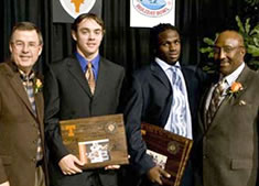 Greg Davis, Colt McCoy, Jamaal Charles, and Ken Rucker
