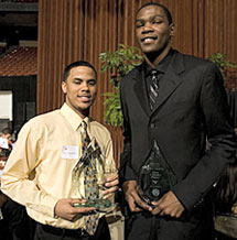 DJ Augustin and Kevin Durant