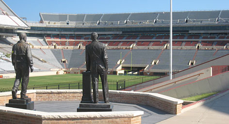 Darrell Royal statue at DKR-Texas Memorial Stadium