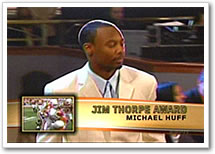 Michael Huff wins Jim Thorpe award