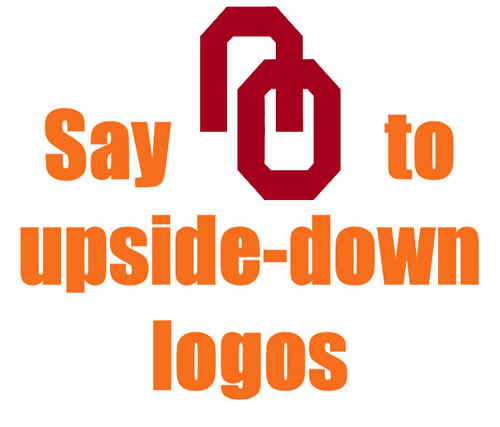 Say NO to Upside Down Logos
