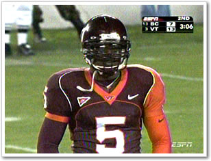 Marcus Vick sporting the nasty unis