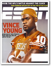 Vince Young on the cover of ESPN the Magazine