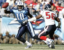 Vince Young against the Texans