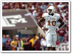 Vince Young during the Aggie game