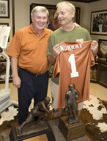 Mack Brown and Bill Murray