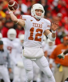 Texas quarterback Colt McCoy can work on his footwork to further improve his accuracy.
