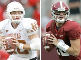 It could come down to which QB plays best. Who would you choose? McCoy or McElroy?
