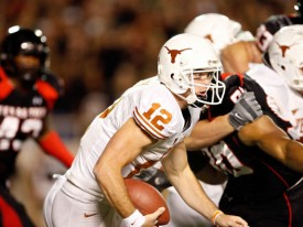 Texas will need Colt McCoy's arm and his legs to outscore Texas Tech.