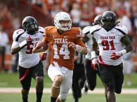 David Ash runs for a big gain against Texas Tech