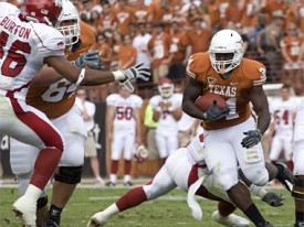 Cody Johnson runs against Arkansas