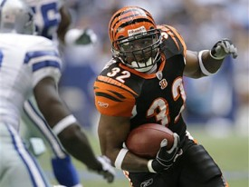 Cedric Benson made his debut for the Bengals