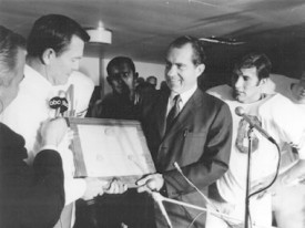President Nixon declares the Longhorns national champs