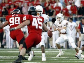 Will Colt McCoy have room to operate against Tech?