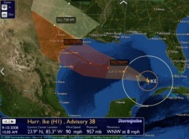 Hurricane Ike tracker from StormPulse.com