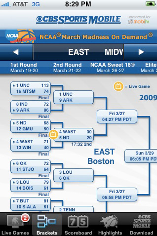 NCAA Tourney live video, highlights, and scores direct on your iPhone.