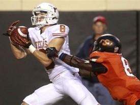 Jaxon Shipley against Oklahoma State