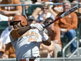 Kevin Keyes and the rest of the UT lineup could only produce 2 runs. (TexasSports.com)