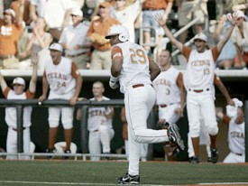 Kevin Keyes' first inning homer set the stage for the Texas win. (Statesman.com)