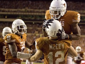 Colt McCoy once again carried the Horns on his back