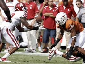 This year's OU game quickly slipped away from Mike Davis and Texas.