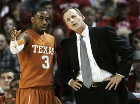 Texas coach is looking for answers beyond AJ Abrams at guard.