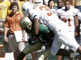 Roddrick Muckelroy may not be on the field to harass the Baylor Bears this season.
