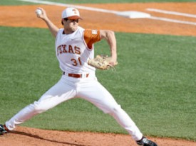 Chance Ruffin threw a complete game in a 6-2 win over Stanford. (TexasSports.com)
