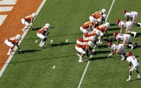 Texas opened the game in the wishbone as a tribute to the late Darrell Royal.