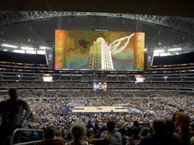 Cowboys Stadium was a less than optimal game watching experience. (Image: TexasSports.com)
