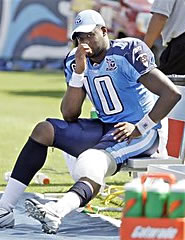 Vince Young has an injured MCL