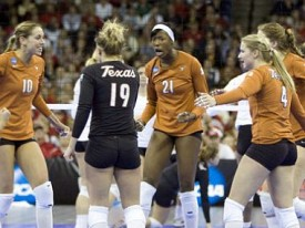 The Texas volleyball team fell to Stanford five-set showdown